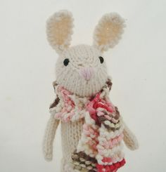 Adorable rabbit with scarf • rachel borello