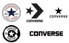 Converse history logos - Via i heart brand Sports Brand Logos, Sports Logo, Converse Logo, Converse All Star, Converse Shoes, Logo Evolution, Sports Bulletin Boards, Clothing Brand Logos, Logos Retro