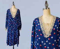 années 1920 robe / robe de fantaisie par GuermantesVintage sur Etsy