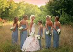 The image of these bridesmaids with the lady of the hour is just fantastic! The color of the bridesmaid gowns in contrast with the brides off-white gown is phenomenal. Contact Candice Jones Photography for more information about her wedding packages and availability! Photo credit: Candice Jones Photography