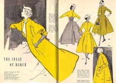 Bassett12 by leifpeng, via Flickr 1950's vintage fashion illustrations