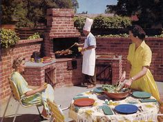 Brick BBQ with Chimney Plans
