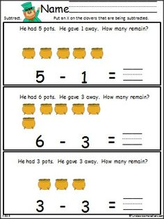 math worksheet : subtraction worksheets saint patricks and worksheets on pinterest : Common Core Subtraction Worksheets