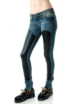 JET by John Eshaya Denim Chap Jeans from Dolls Kill was$235.00 now$152.00
