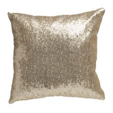 Update your look with this gorgeous champagne sequin cushion from the Wilko home collection. The cover and filling is 100% polyester (  excluding decoration). Spot clean only.