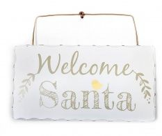 Set 2 decoratiuni de usa Welcome Santa