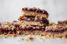 These whole-grain bars make for a fiber-filled breakfast, afternoon snack, or sweet treat that'll curb your entire family's sweet cravings. Feel free to use any variety of fruit preserves you like. For us, the tartness of raspberry preserves complement the nuttiness of tahini best! Raspberry Preserves, Fruit Preserves, Oatmeal Squares, Variety Of Fruits, Afternoon Snacks, Yummy Snacks, Cravings, Sweet Treats, Sweets