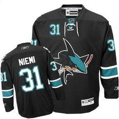 2d0114254 Antti Niemi-Buy 100% official Reebok Antti Niemi Men s Authentic Black  Jersey NHL San Jose Sharks  31 Third Free Shipping.