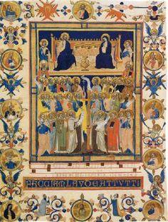 Maestro delle Effigi Dominicane - Laudario della Compagnia di Sant'Agnese - 1320 - tempera e oro su pergamena - National Gallery of Art di Washington