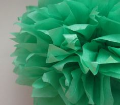1 Mint Tissue Paper Pom Pom  Wedding Decoration  by PaperPomPoms