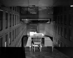 Camera Obscura: Image of Mill Alley in Room with Desk, Lawrence, MA, 2002