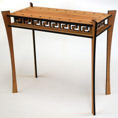 Laser cut side table