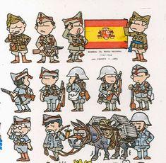 !Se ampla el numero de colaboradores!. ZHANG XING y su amable Sra. Amanda, colaboran a partir de ahora desde China, con sus graciosos di... Anime Military, Military Art, Military Drawings, Communist Propaganda, Military Insignia, Toy Soldiers, Cartoon Styles, Cartoon Drawings, Cartoon Characters
