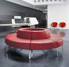 Futuristic reception seating from ~~> Bene Coffice
