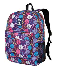 Take a look at this Purple Peace Crackerjack Backpack by Wildkin on #zulily today!