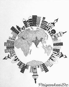 #ArtistPromo: @priyanka6dz    #doodling#zentangle#doodleart #zenart#doodlesofinstagram #zentangleart#mySTEADLER#pen #pencil#drawing#illustration#globe #worldmap#earth#earthpix#art#artsy #arts_help#art_gallery#artist #artistsoninstagram#artoftheday #instalove#instagram