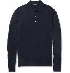 Cotswold Merino Wool Polo Shirt   MR PORTER
