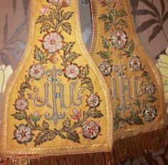 Exquisite Antique Gold Brocade Priest Stole Vestment   eBay