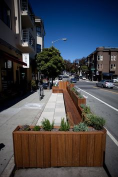 Mapping All 43 Awesome San Francisco Public Parklets - Curbed Maps - Curbed SF Restaurant Streets, Terrace Restaurant, Urban Furniture, Street Furniture, Outdoor Cafe, Outdoor Seating, Landscape Elements, Landscape Architecture, Outdoor Restaurant Design
