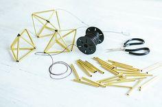 DIY Brass Himelli Geometric Brass Ornaments