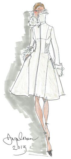 Jasper Conran designer coat sketch #fashion #designer #sketch