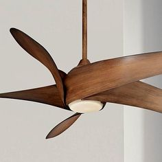 This distressed koa finish ceiling fan has an integrated tea stained glass light, so you can refresh your house in style. Style # at Lamps Plus. Ceiling Fan Makeover, Stained Glass Light, White Ceiling Fan, Ceiling Panels, White Paneling, Ceiling Decor, Minka, Decoration, Lights