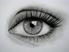 Cómo dibujar un ojo realista y PESTAÑAS!! Paso a Paso