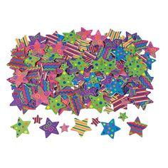 500 Fabulous Foam Self-Adhesive Star Shapes - OrientalTrading.com