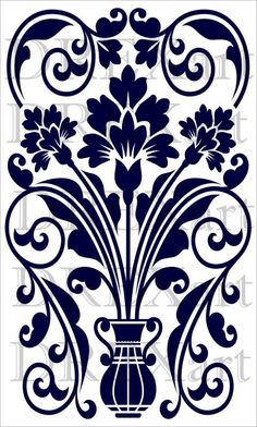 Large FLORAL DAMASK  12 x 20  STENCIL for Walls / by drexart