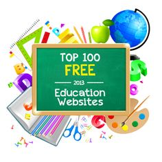 Top 100 Free Education Sites - check out the top pick for each topic including: reading, science, art & music, lesson planning, study skills, writing, math, social studies, and classroom management
