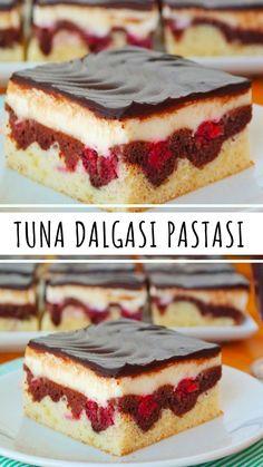 Tuna Wave Cake (with video) - Yummy Recipes, Yummy Recipes, Dessert Recipes, Yummy Food, Healthy Food, Raspberry Cheesecake Bars, Cheesecake Recipes, Wave Cake, Pasta Cake, Dessert Bread