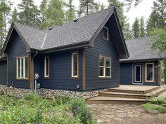 Exterior Color Palette, Exterior Siding Colors, Blue Siding, Exterior Paint Colors For House, House Colors, Cedar Shake Siding, Concrete Siding, Cedar Homes, Cottage Exterior