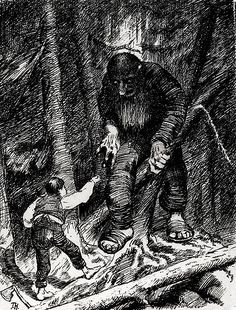 from Norwegian Folk Tales Troll Stories illustrated by the great Norwegian painter/illustrator: Kittelsen -- worth looking into if not familiar with. And especially if you are a Troll fan. Most Popular Artists, Great Artists, Theodore Kittelsen, Arte Horror, Norse Mythology, Arte Pop, Nature Paintings, Dark Art, Oeuvre D'art