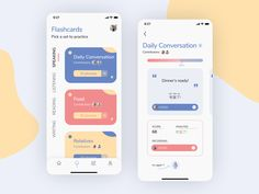 Mobile Application Design, Mobile Ui Design, App Ui Design, Web Design, Best App Design, Flashcard App, Word App, App Design Inspiration, Mobile App Ui