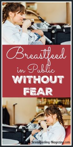 Breastfeeding in public does not need to be scary!  How to breastfeed in public with no fear.