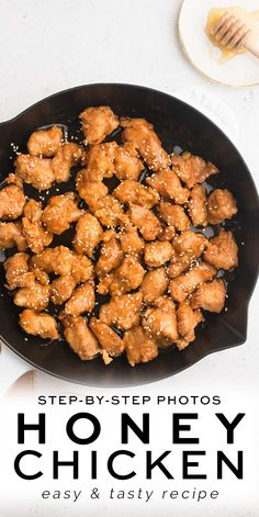 Crispy Honey Chicken with step-by-step photos   Eat, Little Bird #honeychicken Grilled Chicken Recipes, Healthy Chicken Recipes, Turkey Recipes, Beef Recipes, Real Food Recipes, Dinner Recipes, Chicken Appetizers, Walnut Recipes, Duck Recipes