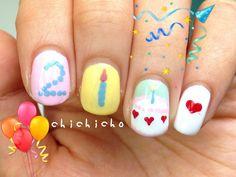 Birthday Cake Nail Art | chichicho~ nail art addicts