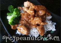 Spicy Peanut Chicken. Also has instructions for making into freezer meal. Easy.