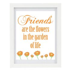Friendship Quote Friends Gift Typography by ColourscapeStudios