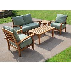 Teak Patio Furniture Set Outdoor From Kohl S On Catalog Spree