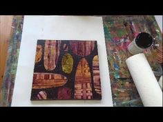 Acrylmalerei Techniken Collage