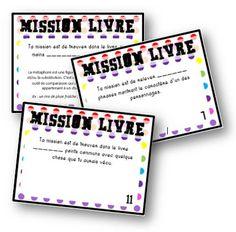Mission livre - cartes pour la lecture - La classe de Mallory