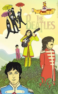 Well, it's the Beatles! I had an idea for a poster, and I just kind of went with it. The Beatles Beatles Poster, Beatles Love, Les Beatles, Beatles Art, Beatles Funny, Beatles Albums, Beatles Photos, Ringo Starr, George Harrison