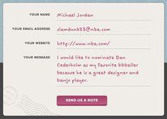 A handwritten form on the bbballer website