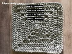 This is the granny square we will be using for the Christmas Granny Afghan. It's a basic solid granny square with a circle in the mid...