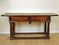 A Superb 17th Century Italian Baroque Walnut Center Table image 2
