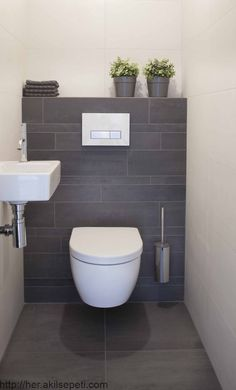 hotel bathroorn Thrill Your Site visitors with These 14 Adorable Half-Bathroom Designs - Small Downstairs Toilet, Small Toilet Room, Downstairs Bathroom, Zen Bathroom, Target Bathroom, Shower Bathroom, Vanity Bathroom, White Bathroom, Master Bathroom