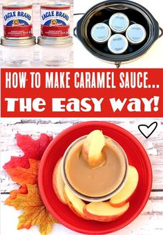 Caramel Sauce Recipe with Condensed Milk! Easy Crockpot caramel sauce is truly one of the best things you'll ever make! It's creamy, dreamy, ooey-gooey and the perfect thing to have on hand for those sliced apples! Go grab the recipe and give it a try this week! Delicious Crockpot Recipes, Delicious Desserts, Yummy Food, Thanksgiving Desserts Easy, Fall Desserts, Caramel Recipes, Fall Recipes, Yummy Appetizers, Appetizer Recipes