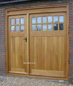 oak garage doors More