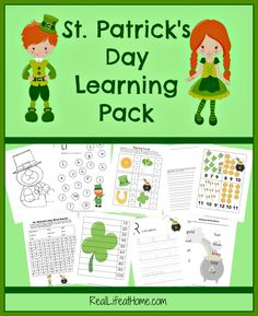 St. Patrick's Day Printable and Fun Activities for Grades K - 3